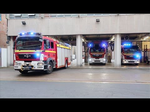 4 Fire Appliance Turnout - Rescue Pump, Turntable Ladder, Water Rescue T...