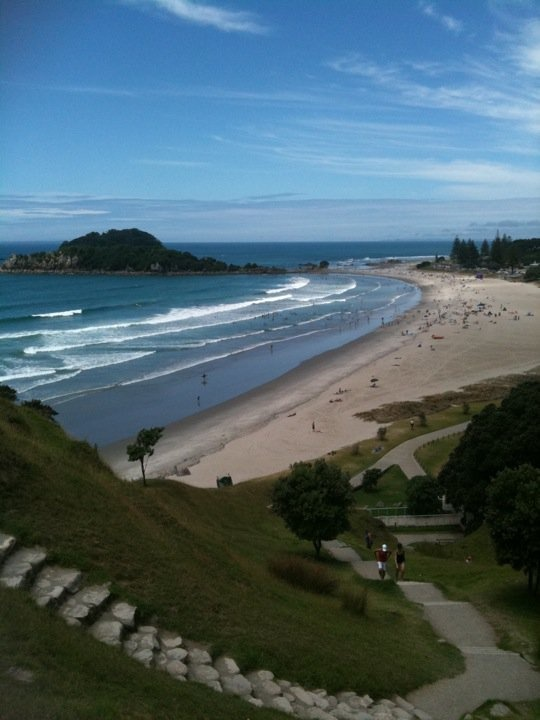 Mount Maunganui, NZ..... beach of my early years.... our family had a bach here.