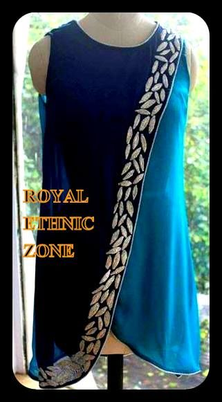 STYLE NO. REZ 235 DOUBLE SHADED TOP PRICE- 4000/- FABRIC- GEORGETTE EMBROIDERY- HAND WORK