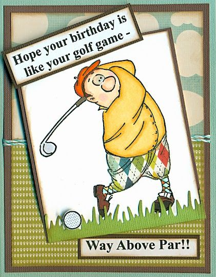 Art Impressions GORDON GOLFER from Ai People line.  Handmade masculine sports themed birthday card.