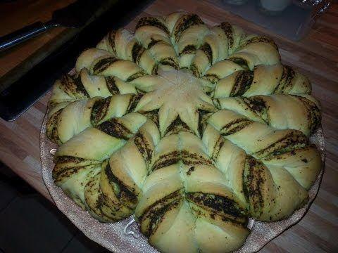Pestobrot - Blumenbrot / Pestoblume - Back Dein Brot selber
