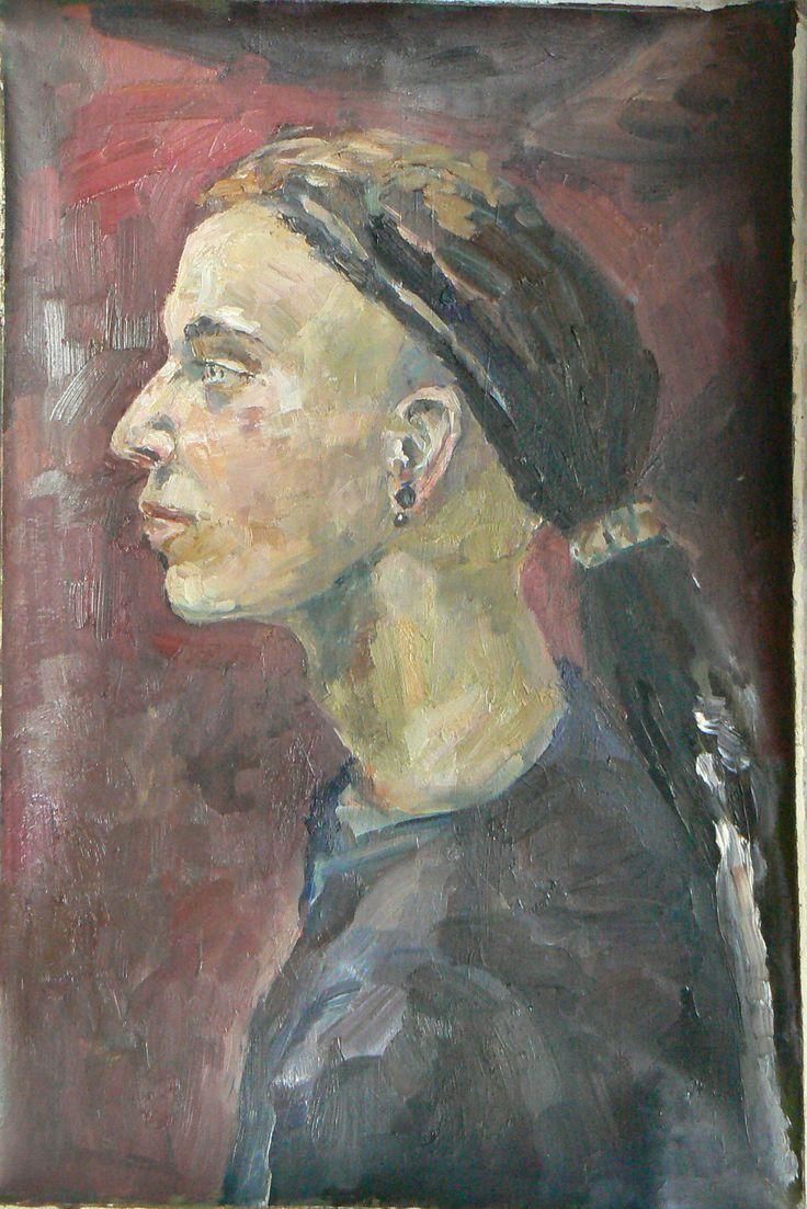 портрет, холст, масло 30х60 см will scuff, canvas, oil, 30х60