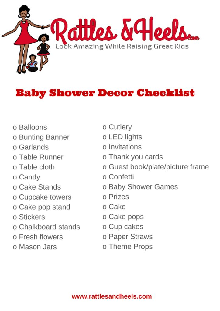 Baby Shower Checklist Baby Shower Checklist Boy Baby Showers Boy