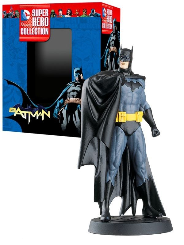 Figurine Batman, DC Super Héro Collection, numéroté, sculptée et peinte à la main.  La figurine est livrée en boite décor avec son fascicule, qui détail l'histoire et les anecdotes du personnage.