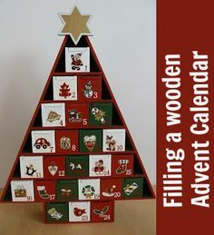 Ideas for gifts to fill a wooden Advent Calendar at Christmas