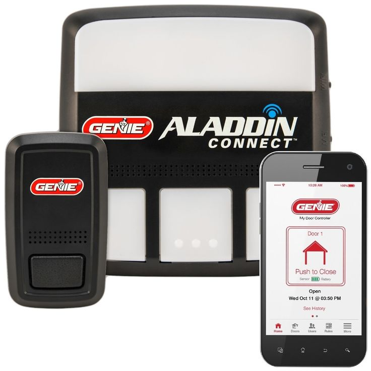Aladdin Connect WiFi Garage Door Controller by Genie – Retrofit Add-on Unit for Existing Garage Door Opener / Fits Most Brands