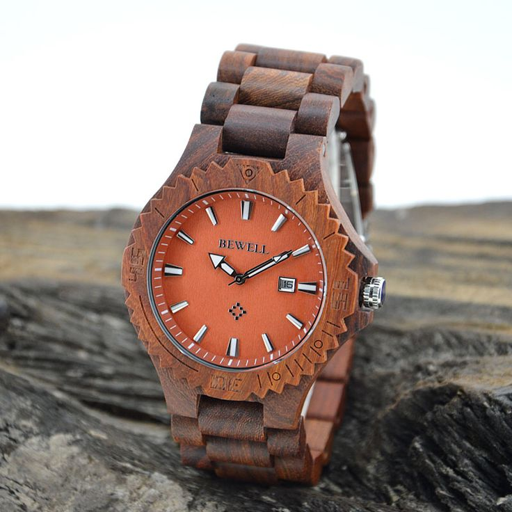 Bewell Wooden Watch with big face,OEM/ODM is also welcome.