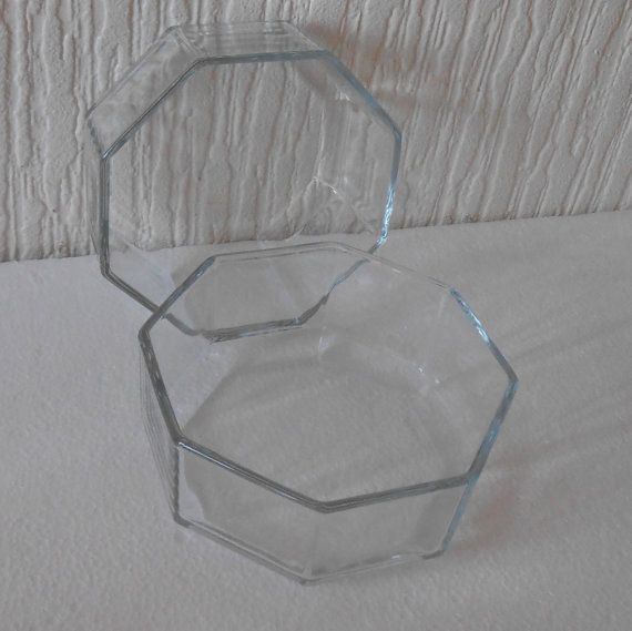 Pair Arcoroc Pyrex France Hexacon novoctime clear by DutchTrader, £12.00