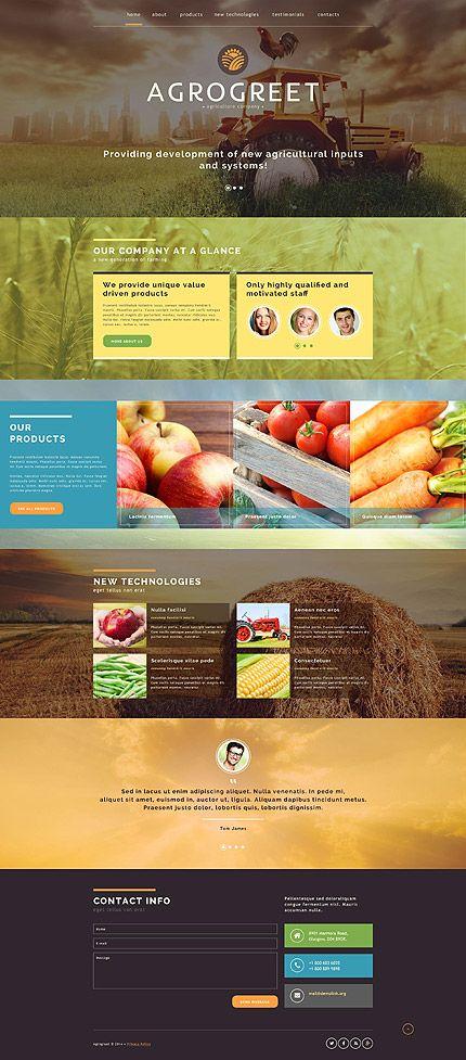 Template 52074 - Agrogreet Agriculture Website Template