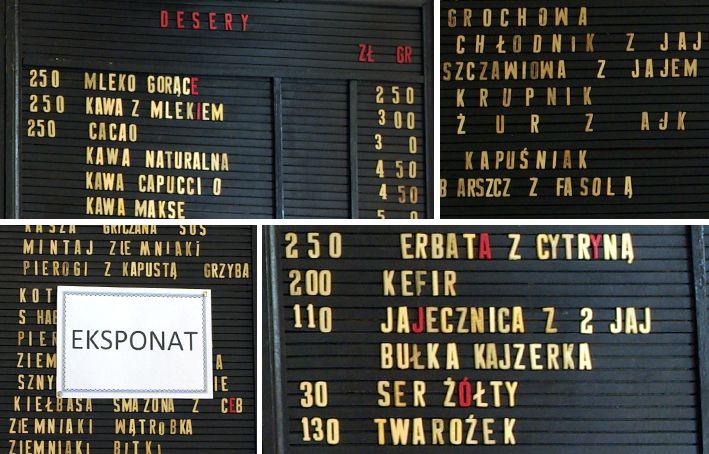 Wilanowski Bar Mleczny / Wilanowski Milk Bar. Someone ate letters:)