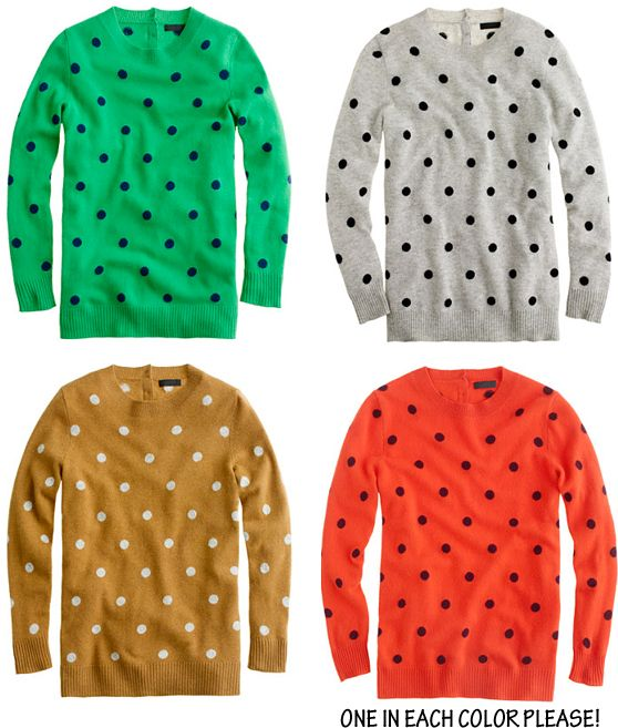 polka dot sweaters