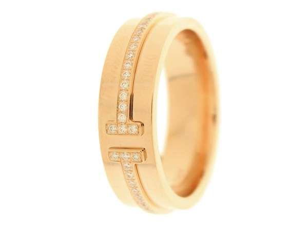 size 40 c139d f60a9 ティファニー リング ツーナローリング ダイヤモンド 計0.13ct ...