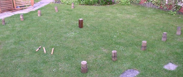 Selbstgebautes Kubb Spiel für den Sommer - Wikingerschach auf http://www.lebegeil.de/wikingerschach/
