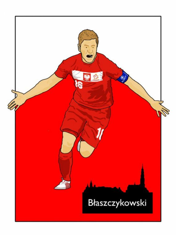 This listing is for a 16 x 12 print of my Jakub Błaszczykowski Poland artwork. Printed on a quality matt photo paper, this is perfect for framing.