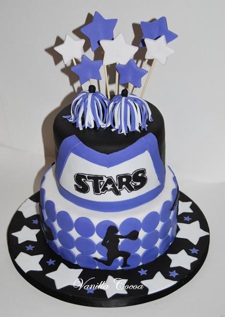 Cheerleaders Cake by Cocoa Claudia, via Flickr