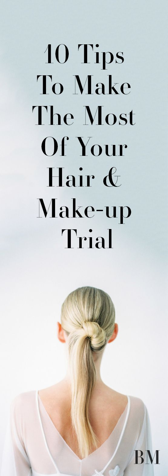 If you're having professional hair and make-up for your wedding, we've put together tips to help you make the most of your trial.