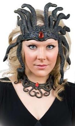 medusa latex headpiece and necklace set medusa headpiecemedusa costumenecklace sethalloween - Medusa Halloween Costume Kids