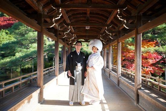 京都 平安神宮 結婚式 白無垢 丸福.jpg
