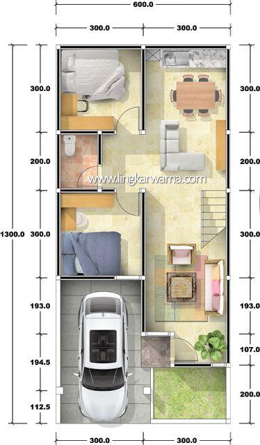 Denah rumah dua lantai dengan luas lahan 78m2   Luas bangunan total type 127m2  Ukuran tanah 6m x 13m  Luas Lahan 78 meter2  Area terbangun Luas 58 m2  Desain minimalis     Rumah ini terdiri dari satu pintu masuk, di lantai satu bangunan terdapat 1 buah ruang tamu, ruang multi, dapur, dua buah kamr dan satu kamar mandi yang di gunakan bersama. Di lantai dua bangunan terdapat 3 kamr tidur dengan satu kamr mandi yang di gunakan bersama dan satu buah ruang multy. Di lantai dua bangunan juga…