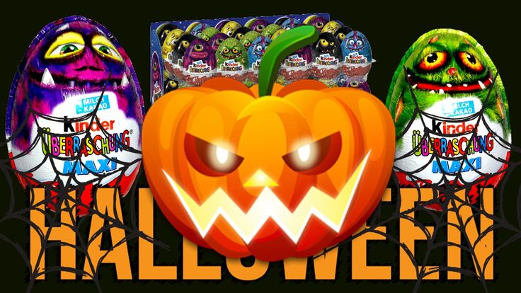 MAXI Kinder Surprise Egg HALLOWEEN Monster High Giant Kinder Surprise Eggs