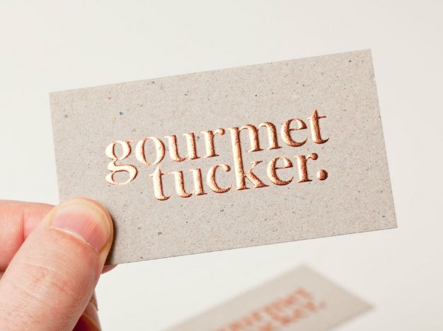 841 best business cards images on pinterest business cards visit new logo and brand identity for gourmet tucker by supply bpo embossed business cardsfoil reheart Gallery