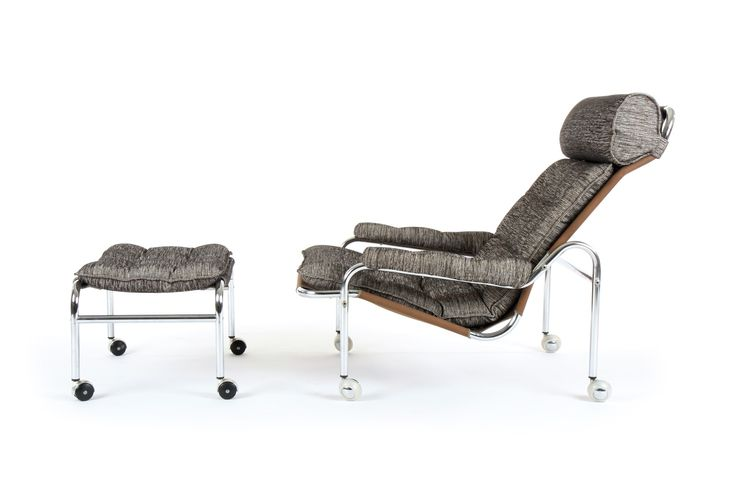 Dux 'Karin' Armchair and Ottoman by Bruno Mathsson - Mr. Bigglesworthy Designer Vintage Furniture Gallery