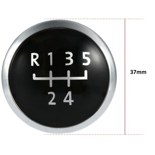 5 Speed Gear Knob Badge Emblem Cap Knob Cover Replacement for VW T5 Transporter 2003-2010