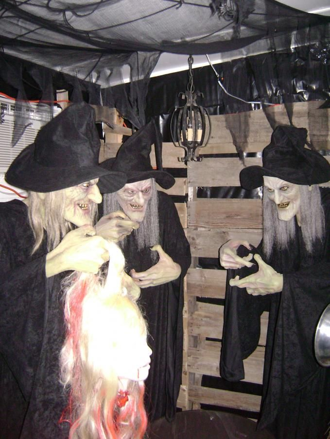 17 best images about halloween witches on pinterest for Good themes for a haunted house