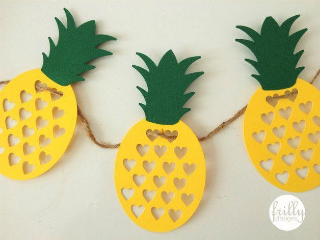 Girlande aus papier mit ananas schnitt nicht geeignet als