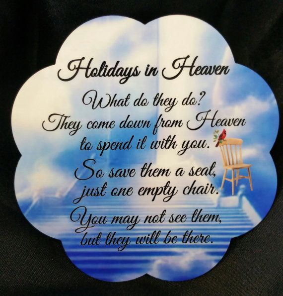 The Empty Chair Holidays in Heaven Free by BudderstownCreations