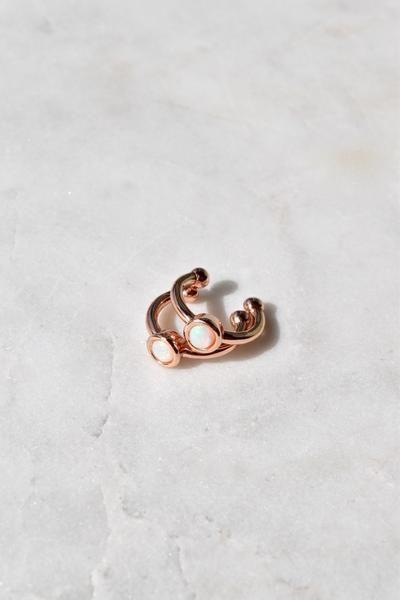 NORTH STAR EAR CUFF | ROSE GOLD | OPAL