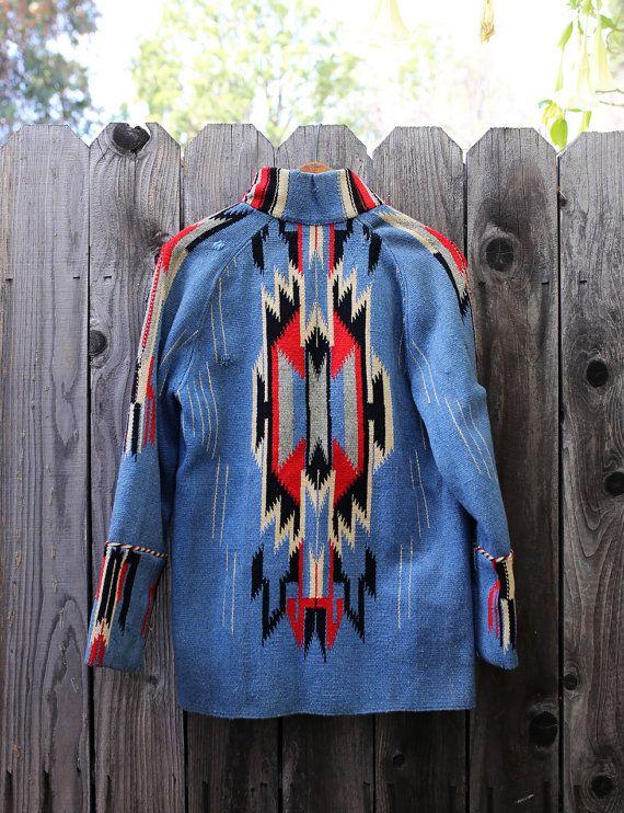 RARE color Vintage Chimayo Navajo American Indian by RustyBrowns