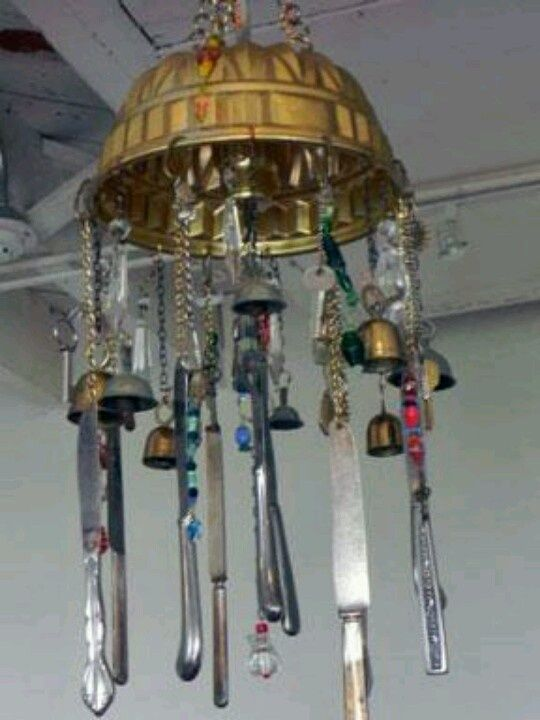 1000 images about junk chimes on pinterest homemade for How to make a windchime out of silverware
