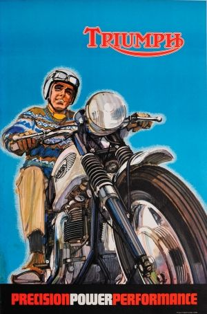 Triumph Motorcycles, 1967 - original vintage poster listed on AntikBar.co.uk
