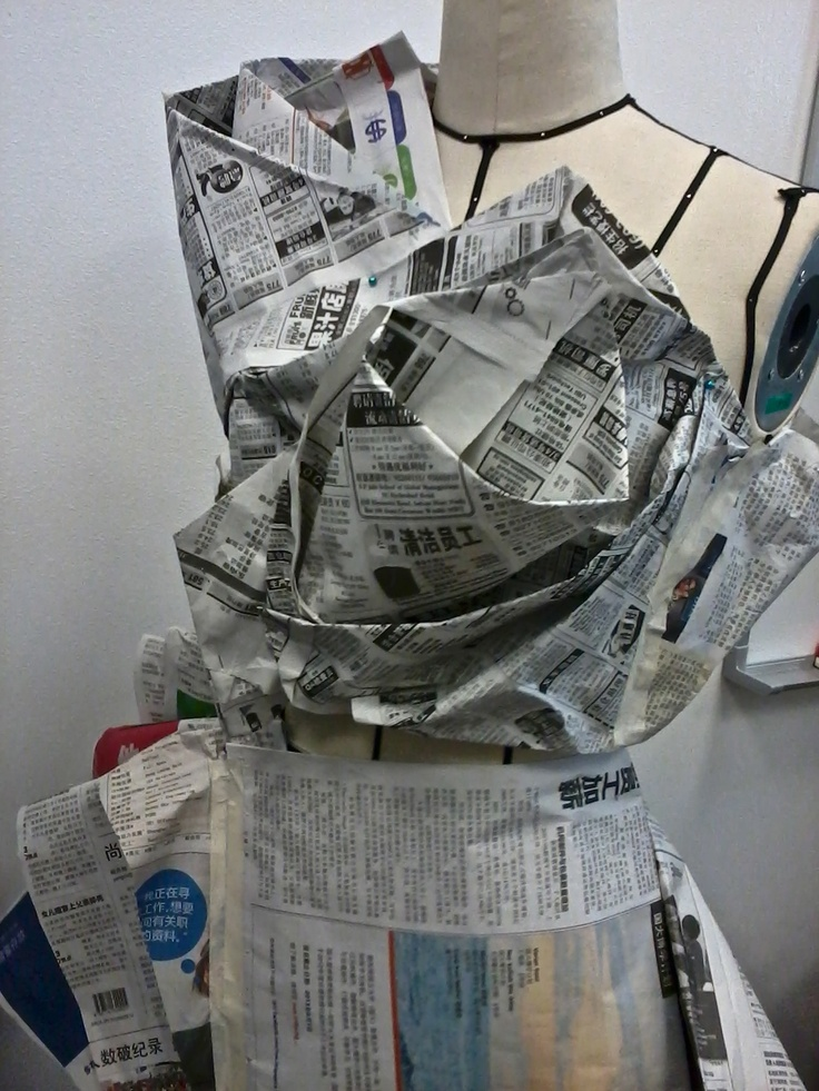 Draping with newspaper