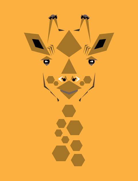 Giraffe. Illustration © 2012 Mat Mabe.
