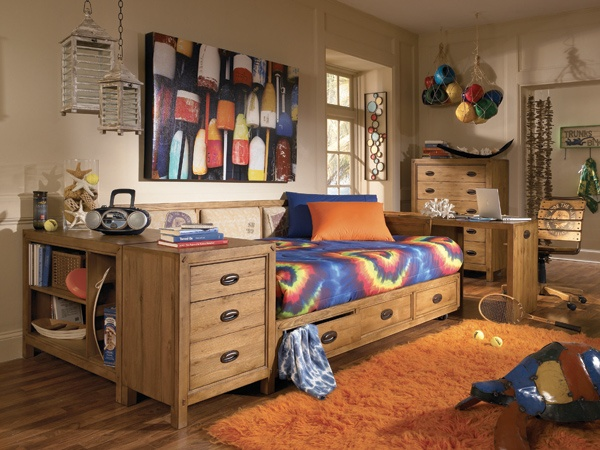 nickelodeon spongebob surf club full platform bed bedroom set - Spongebob Bedroom Set