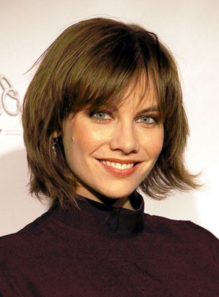 layered bob with bangs
