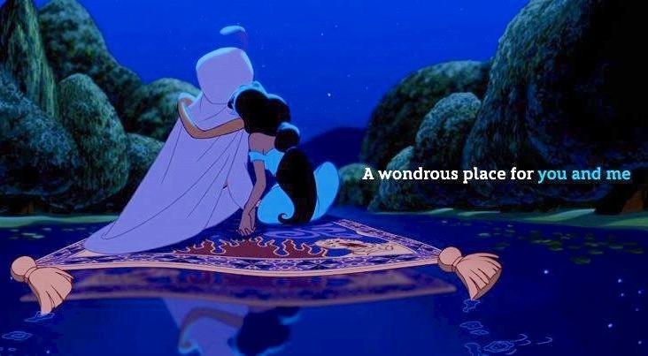 A wondrous place alladin carpet ride scene via www for Aladdin carpet ride scene