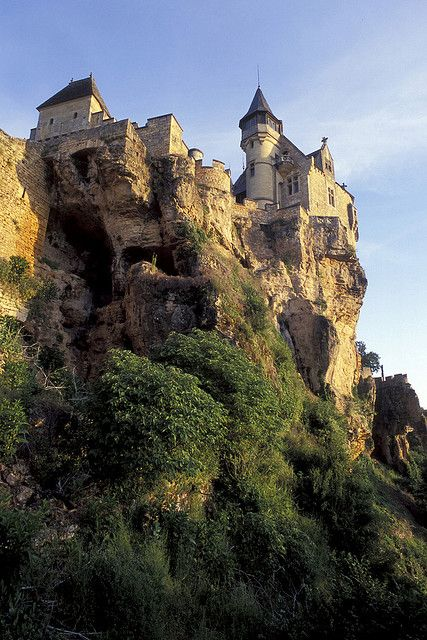 Chateau de Montfort above the Dordogne River, Aquitaine, France