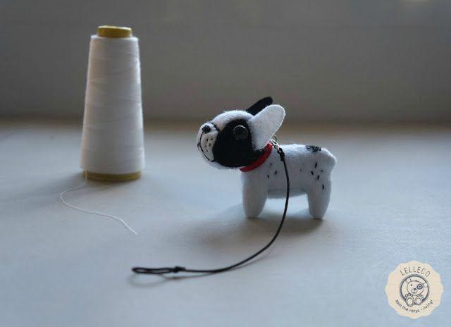 Peluche personalizado miniatura: bulldog francés Miniature dog french bulldog soft toy by Lelleco.