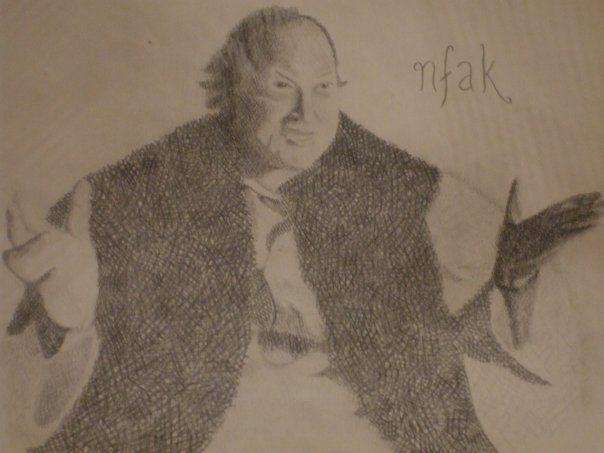nusrat fateh ali khan. maybe my fave sketch