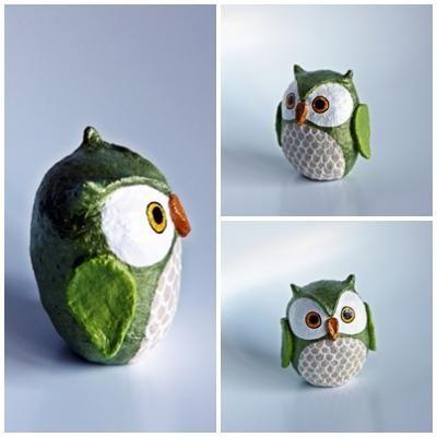 cute little green owl