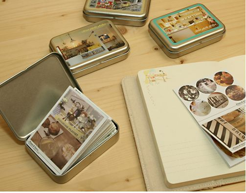 Instax Mini Photo Box & Sticker Set-- you can buy tin boxes at any local supply store for cheap. love this because you can separate your pictures by years, events, etc :)