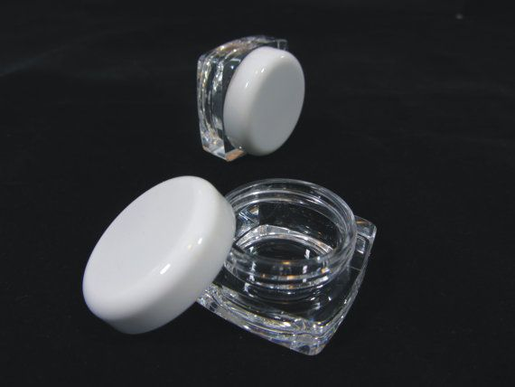 Wholesale cosmetic jars thick wall square  by BeautyMakeupSupply