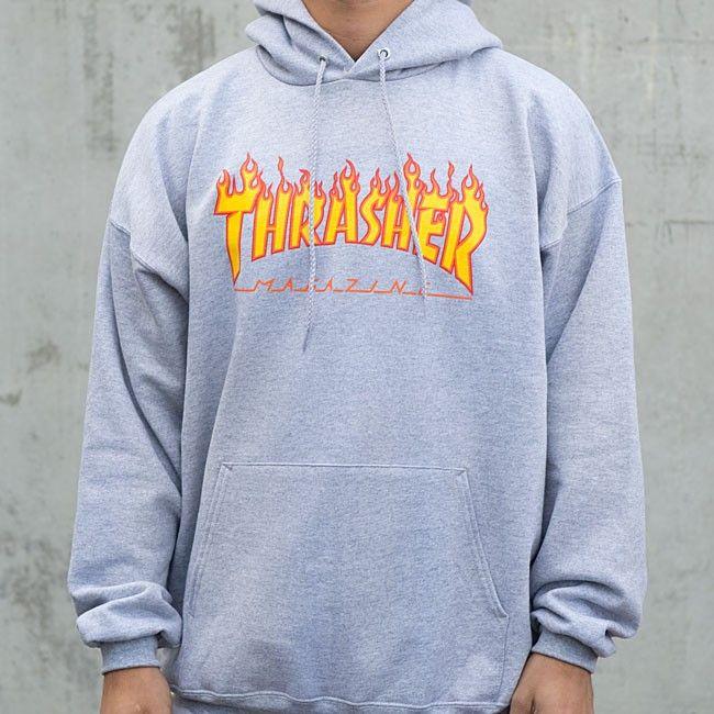 Thrasher Magazine Shop - Thrasher Flame Logo Hood