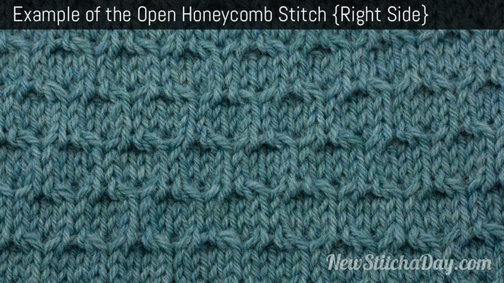 Example of the Open Honeycomb Stitch. (Right Side)
