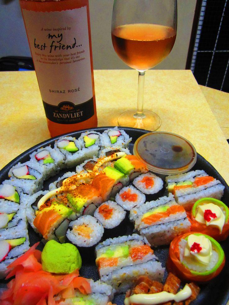 Zandvliet My Best Friend Rosé and sushi