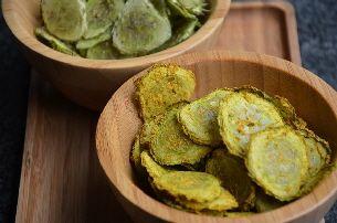Komkommerchips maken