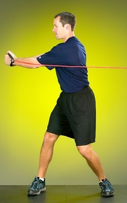 The exercise called Tubing Side Rotation is a good choice for golfers focusing on core training.